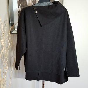 Zara Black Oversized Blouse